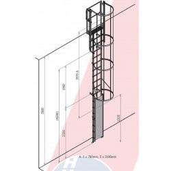 échelle à Crinoline 5 Mètres