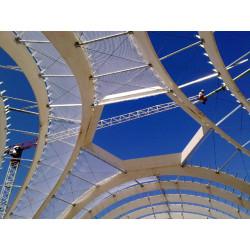 Filet de sécurité anti-chute 20 x 20 mètres, protection pour travaux en hauteur