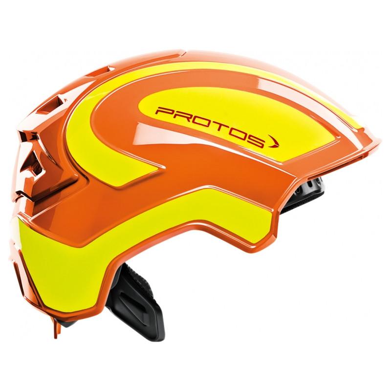 Casque de protection intégral Protos Industry PFANNER orange/jaune