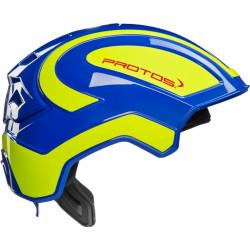 Casque de protection intégral Protos Industry PFANNER bleu/jaune