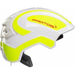 Casque de protection intégral Protos Industry PFANNER blanc/jaune