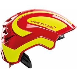 Casque de protection intégral Protos Industry PFANNER rouge/jaune
