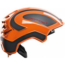 Casque de protection intégral Protos Industry PFANNER orange/noir