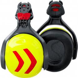 Coquille anti bruit pour casque Protos Integral jaune/rouge
