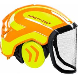 Coquille anti bruit pour casque Protos Integral jaune/orange