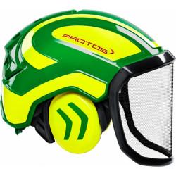 Coquille anti bruit pour casque Protos Integral jaune/vert
