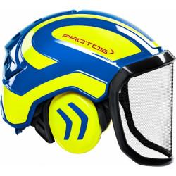 Coquille anti bruit pour casque Protos Integral jaune/bleu