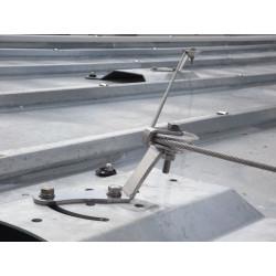 Ligne de vie horizontale sur bac aluminium