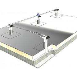 Ligne de vie sécurité toiture dalle béton