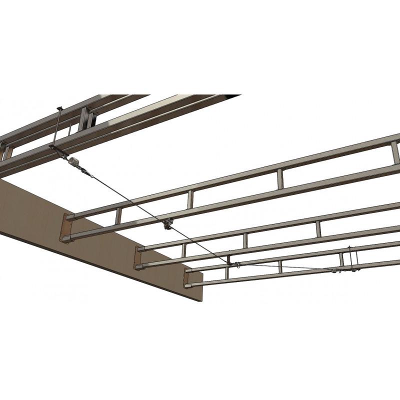 Ligne de vie câble overhead / sous face
