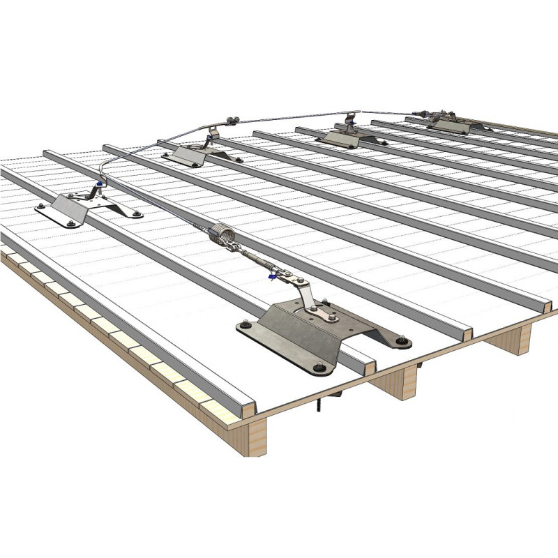 Ligne de vie câble pour toiture zinc