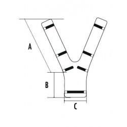 Mousse dorsale pour harnais de sécurité antichute
