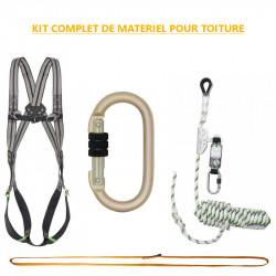 Kit complet de matériel de sécurité pour travail sur toiture