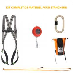 Kit complet de matériel de sécurité pour étancheur