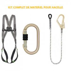 Kit complet de matériel de sécurité pour le travail sur nacelle