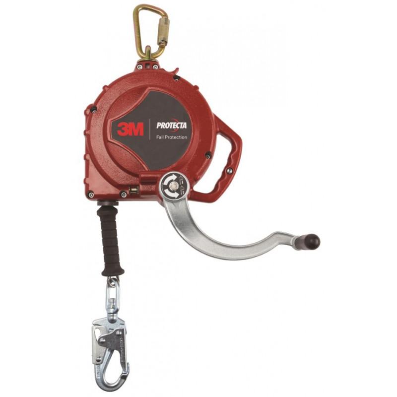 Antichute à rappel automatique avec treuil de sauvetage de 15 m câble galvanisé Protecta