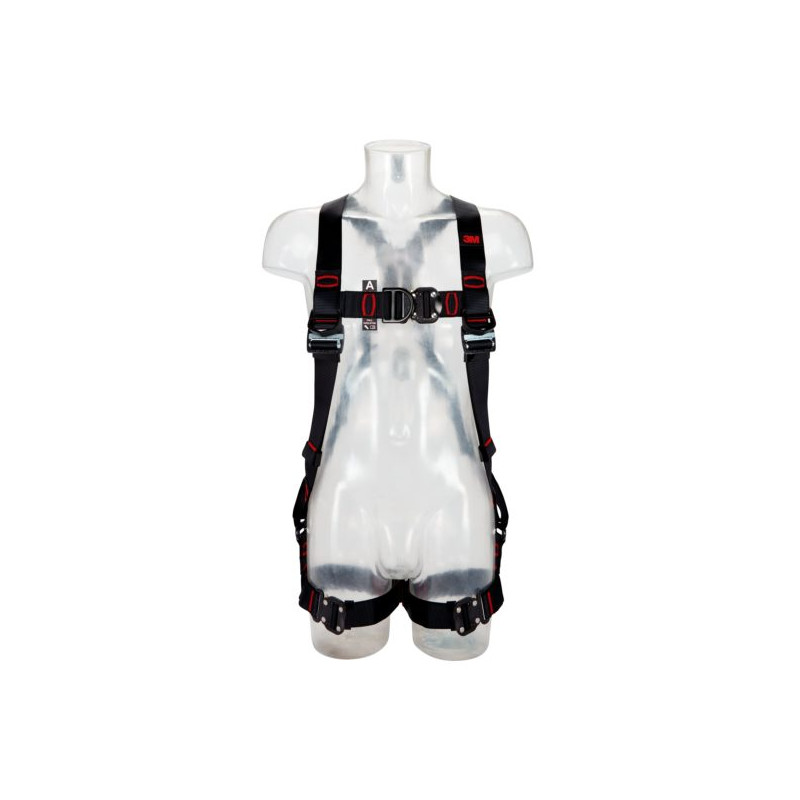 Harnais antichute 3M™ Flexa® - jambières horizontales, 2 points d'accrochage sternal et dorsal, boucles automatiques