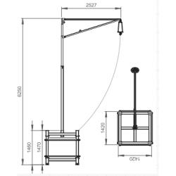 Potence rotative mobile