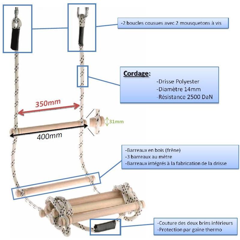 échelle de corde