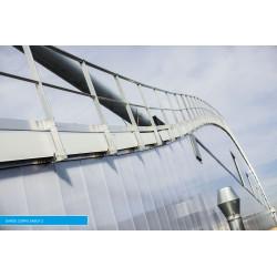 Garde corps toiture fixation sabot Z acrotère isolé Plucéo