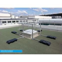 Garde corps industriel pour protection des lanterneaux Plucéo