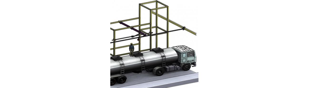 Vente et fabrication de potences / portiques sur-mesure
