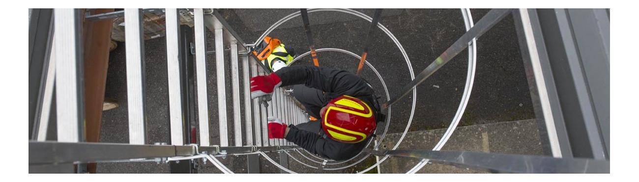 Echelle escabeau à crinoline télescopique accès hauteur