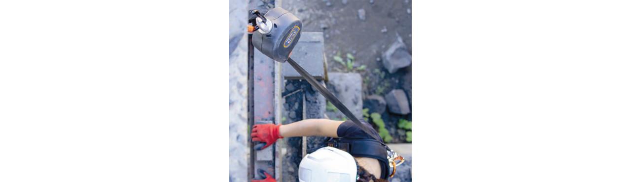 Antichute à rappel automatique en sangle ou câble, Stop chute 10m, Enrouleur