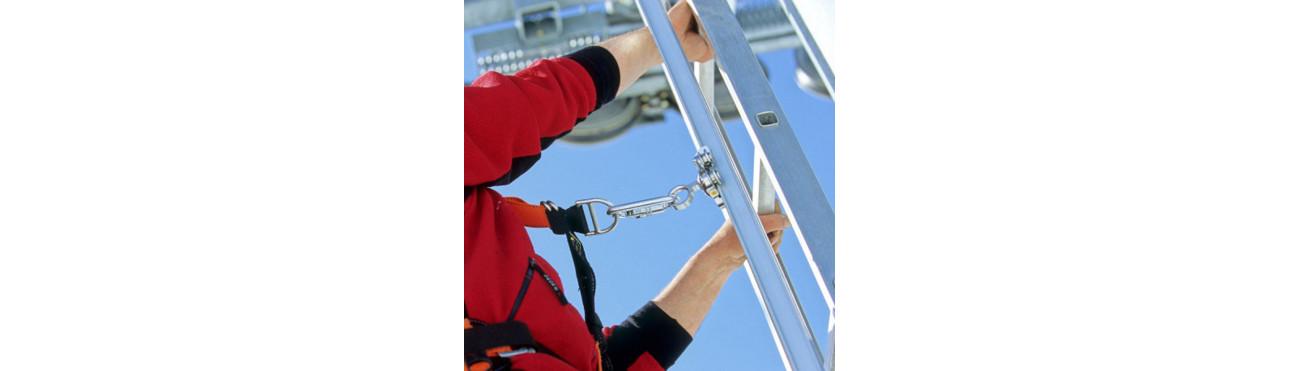 Ancrage à rail vertical pour accès aux pylones et batiments